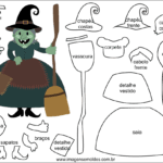 Molde de Bruxinha para Feltro – EVA e Artesanato 4