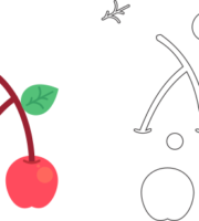 Molde de Cereja para EVA - Feltro e Artesanatos1.1
