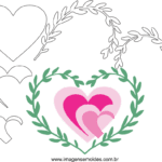 Molde de Coração para Feltro – EVA e Artesanato 21