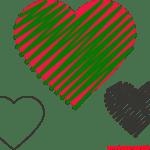 Molde de Coração Para E.V.A. Feltro e Artesanato – 6