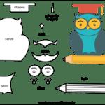 Molde para o Dia dos Professores para Feltro – EVA e Artesanato 1