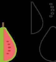 Molde de Goiaba para EVA - Feltro e Artesanatos1.1