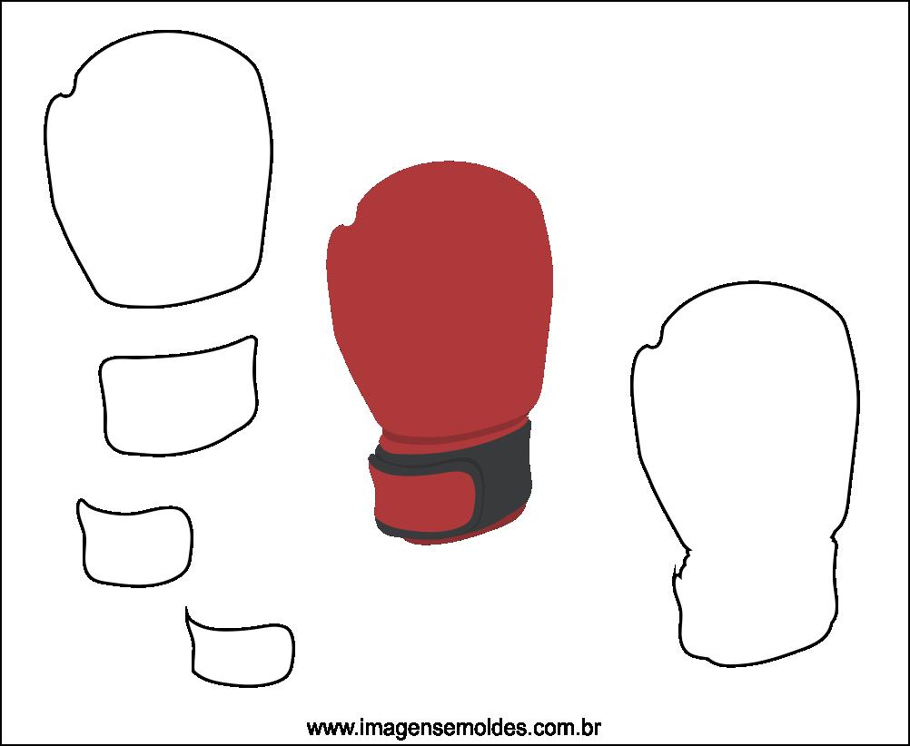 Molde de Luva de Box para EVA Feltro e Artesanato