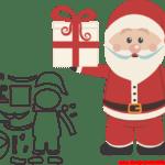 Molde de Natal Para E.V.A. Feltro e Artesanato – 35