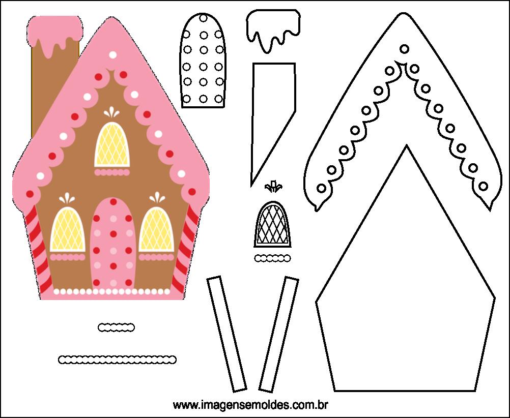 Molde de Natal para EVA Feltro e Artesanato 45
