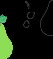 Molde de Pera para EVA - Feltro e Artesanatos1