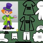 Molde de Personagem Chapeleiro para Feltro – EVA e Artesanato 2