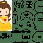Molde de Personagem a Bela e a Fera para Feltro – EVA e Artesanato 1