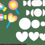 Molde de Unicórnio Elementos 3 para Feltro – EVA e Artesanato