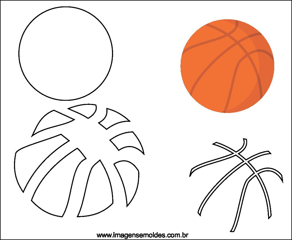 Molde de bola de Basquete para EVA Feltro e Artesanato