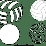Molde de bola de Volei para Feltro – EVA e Artesanato