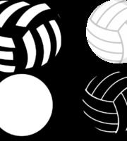 Molde de bola de Volei para EVA Feltro e Artesanato