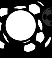 Molde de bola de futebol para EVA Feltro e Artesanato