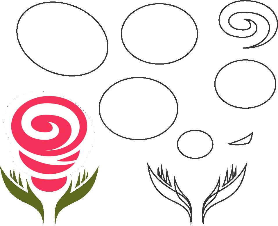 Molde de flor para feltro - eva e artesanatos 02