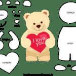 Molde do Dia dos Namorados para Feltro – EVA e Artesanato 3
