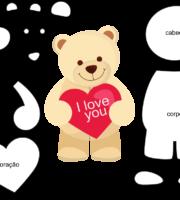 Molde do Dia dos Namorados para EVA Feltro e Artesanato 3
