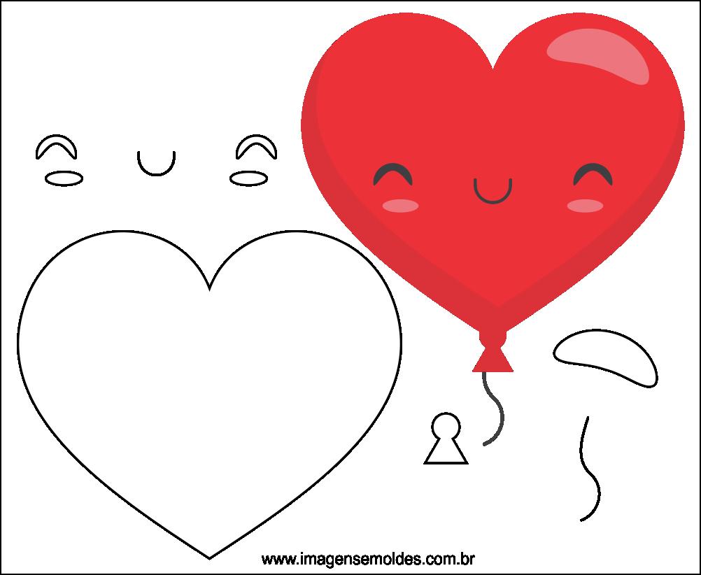 Molde do Dia dos Namorados para EVA Feltro e Artesanato 6
