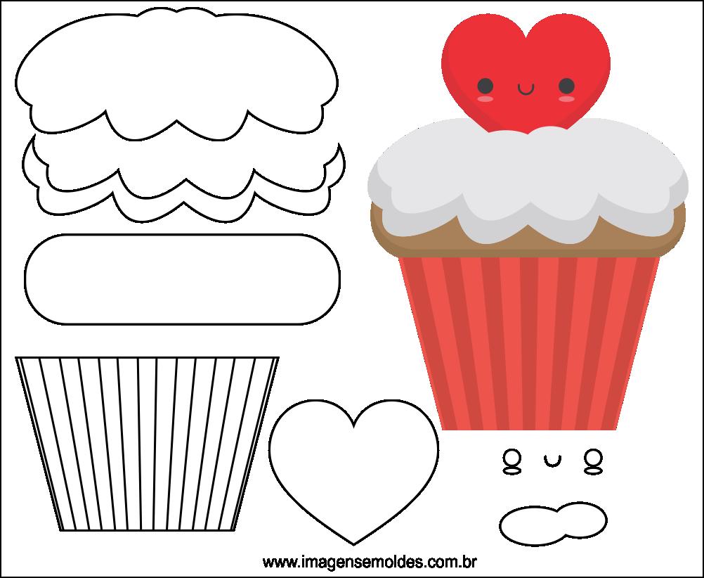 Molde do Dia dos Namorados para EVA Feltro e Artesanato 9