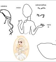 Molde rainha branca da Alice no país das maravilhas