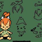 Molde dos Flinstones para Feltro – EVA e Artesanatos2