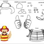 Molde  bombeiro para feltro-eva e artesanatos 2