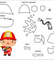molde bombeiro para eva-feltro e artesanatos 2