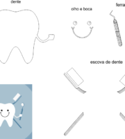 molde de dentista para eva-feltro e artesanatos 1