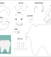 molde de dentista para eva-feltro e artesanatos 2