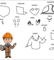 molde engenheiro para eva-feltro e artesanatos 2