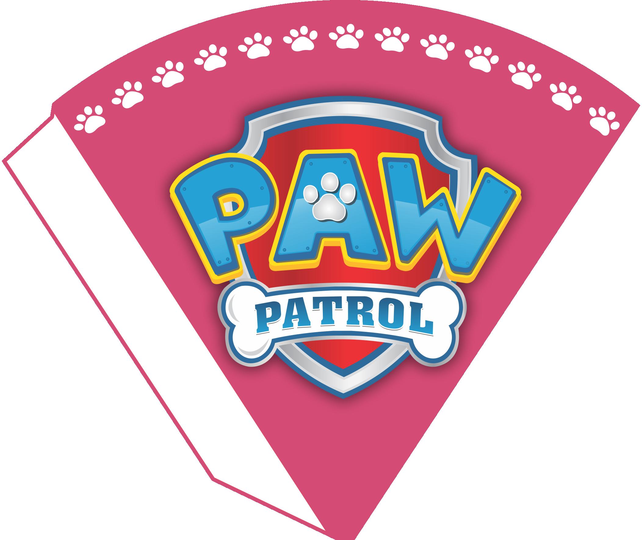 Kit Digital Para Festa Patrulha Canina Rosa Cone De Guloseimas