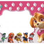 Kit Digital para Festa Patrulha Canina ROSA