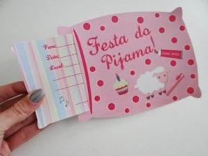 Modelo convite Festa do Pijama