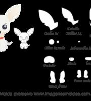 Molde Animais - Chihuahua Scrap - Moldes de EVA - Feltro e Artesanato