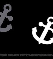 Molde Fundo do Mar - Âncora - Molde para EVA - Feltro e Artesanato