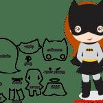 Molde de Batgirl Para E.V.A. Feltro e Artesanato