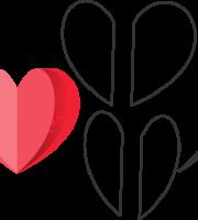 Molde de coração para eva - feltro e artesanatos