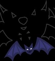 Molde de morcego para eva - feltro e artesanatos
