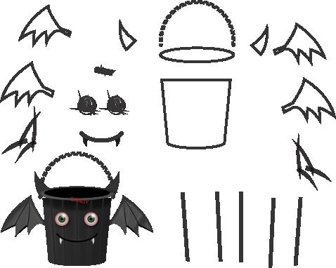 Molde de morcego para eva - feltro e artesanatos, molde de murciélago, bat mold, Fledermaus Schimmel