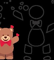 Molde de ursinho para eva - feltro e artesanatos