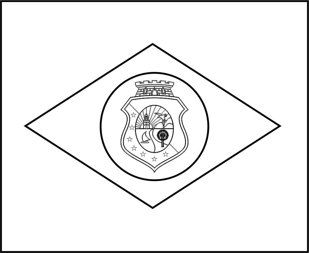 Bandeira Do Brasil Do Estado Do Ceara Para Colorir 23