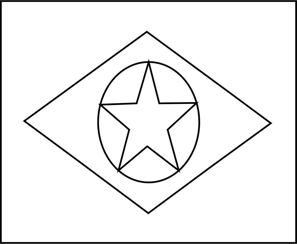 Bandeira Do Brasil Do Estado Do Mato Grosso Para Colorir 11