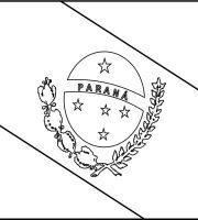 BANDEIRA DO BRASIL - DO ESTADO DO PARANÁ PARA COLORIR 24