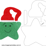 Molde de Natal para E.V.A Feltro e Artesanato