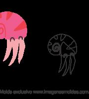 Molde Fundo do Mar - Caramujo - Molde para EVA - Feltro e Artesanato