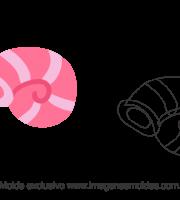 Molde Fundo do Mar - Concha Rosa - Molde para EVA - Feltro e Artesanato