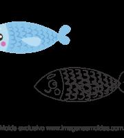 Molde Fundo do Mar - Concha - Molde para EVA - Feltro e Artesanato