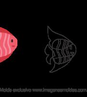 Molde Fundo do Mar - Peixe - Molde para EVA - Feltro e Artesanato