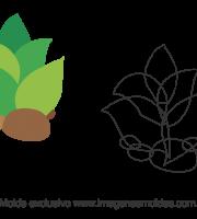 Molde Fundo do Mar - Planta - Molde para EVA - Feltro e Artesanato