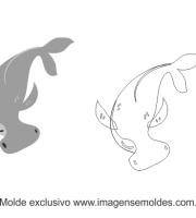 Molde Fundo do Mar - Tubarão Martelo - Molde para EVA - Feltro e Artesanato