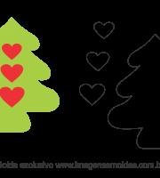 Molde Natal - Árvore - Moldes de EVA - Feltro e Artesanato